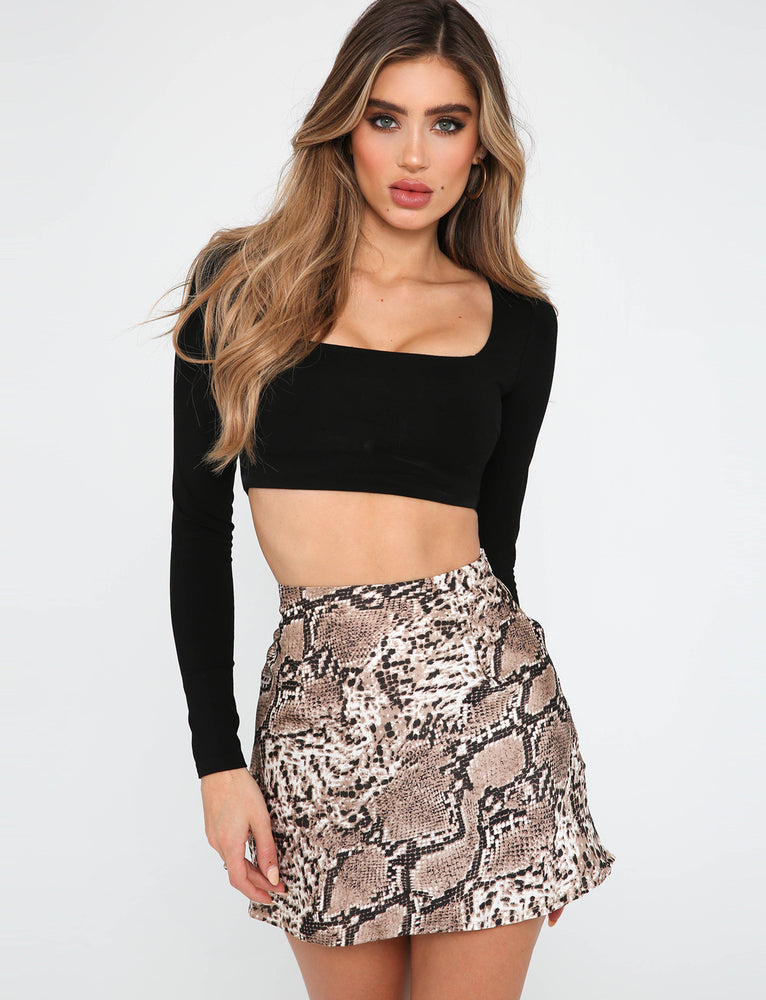 Manda Skirt - Tan Snake