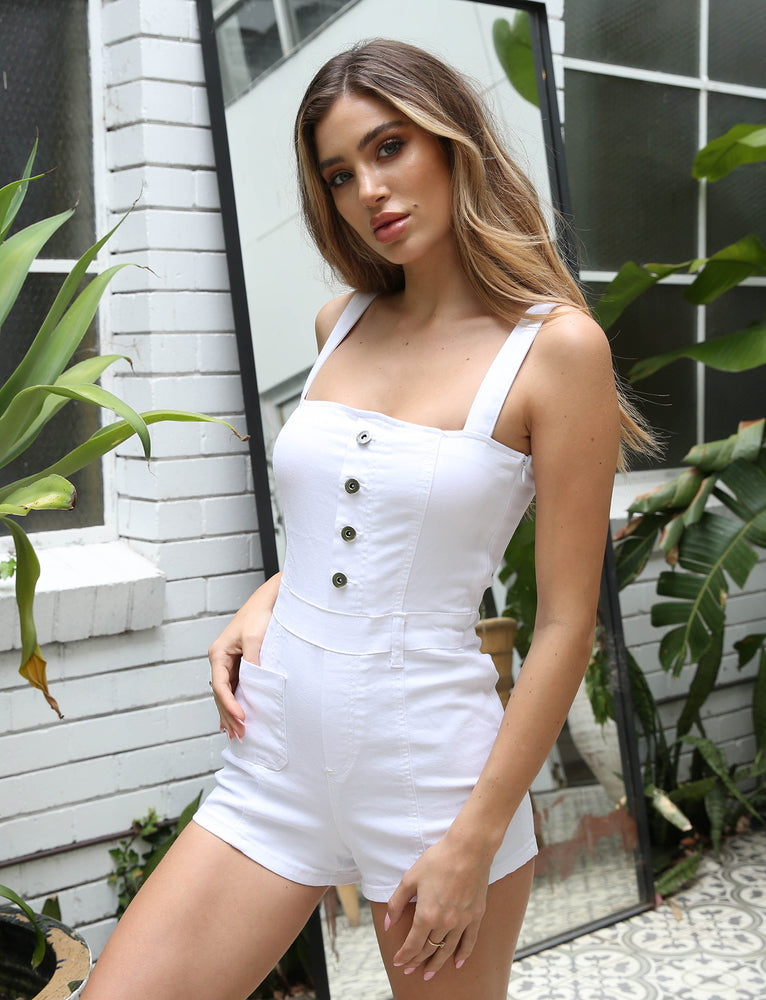 Alice Playsuit - White