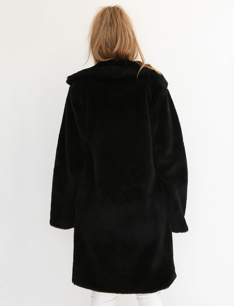 Blair Coat - Black Fur