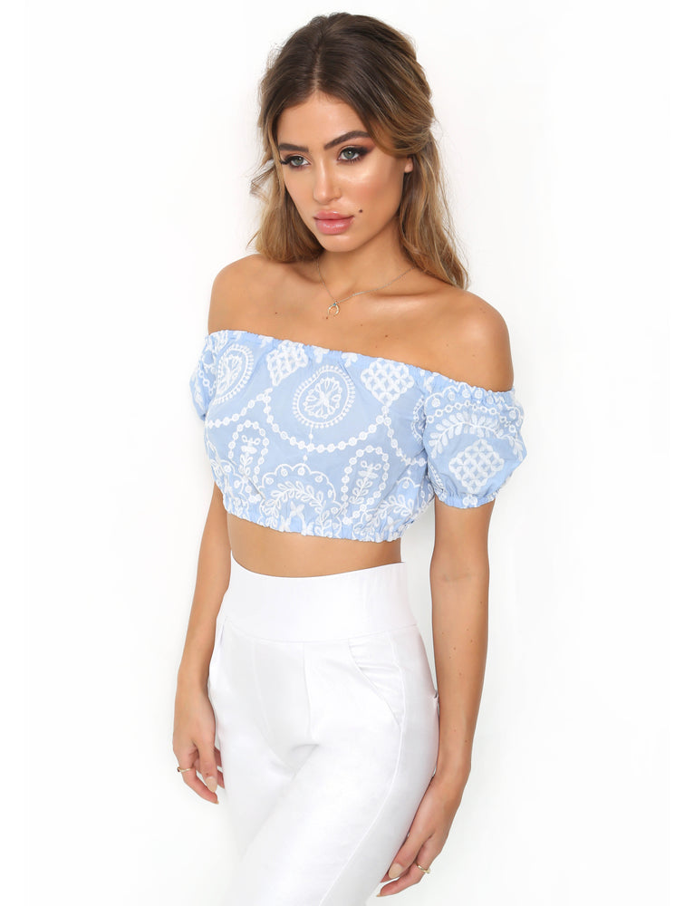 Stella Crop - Blue