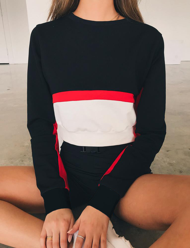 Pia Top - Black/Red/White