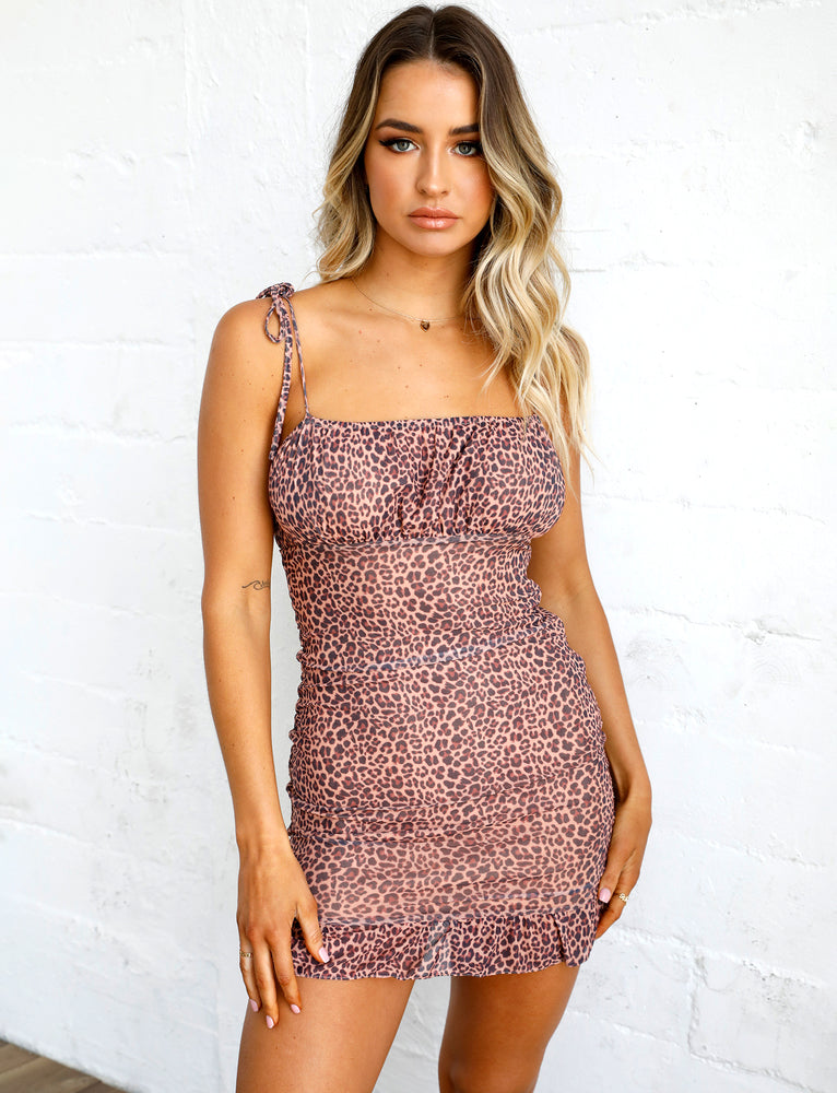 Mona Dress - Leopard