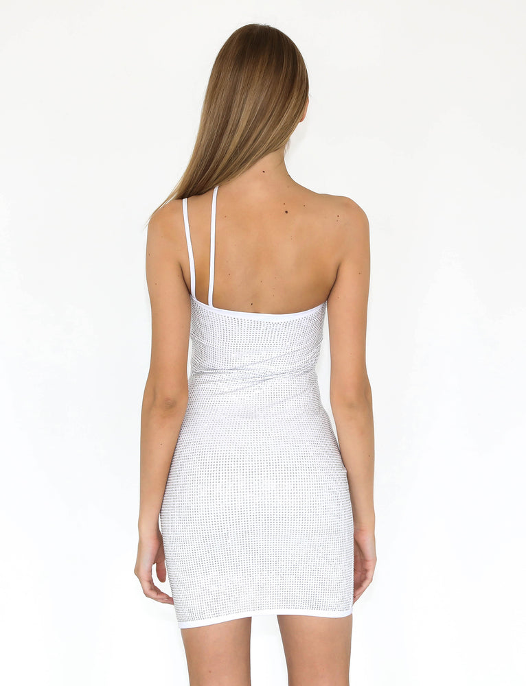 Aurora Dress - White Diamante