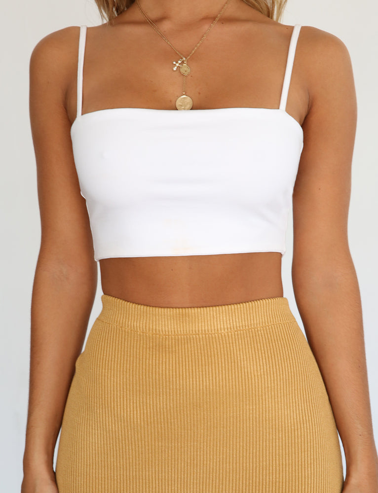 Free Love Crop - White