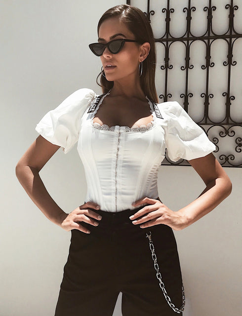 Chelsey Corset Top - White