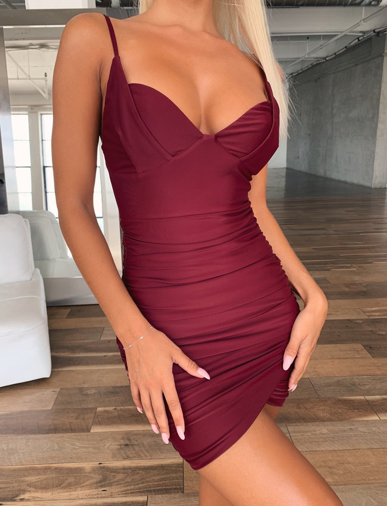 Spirited Dress - Plum