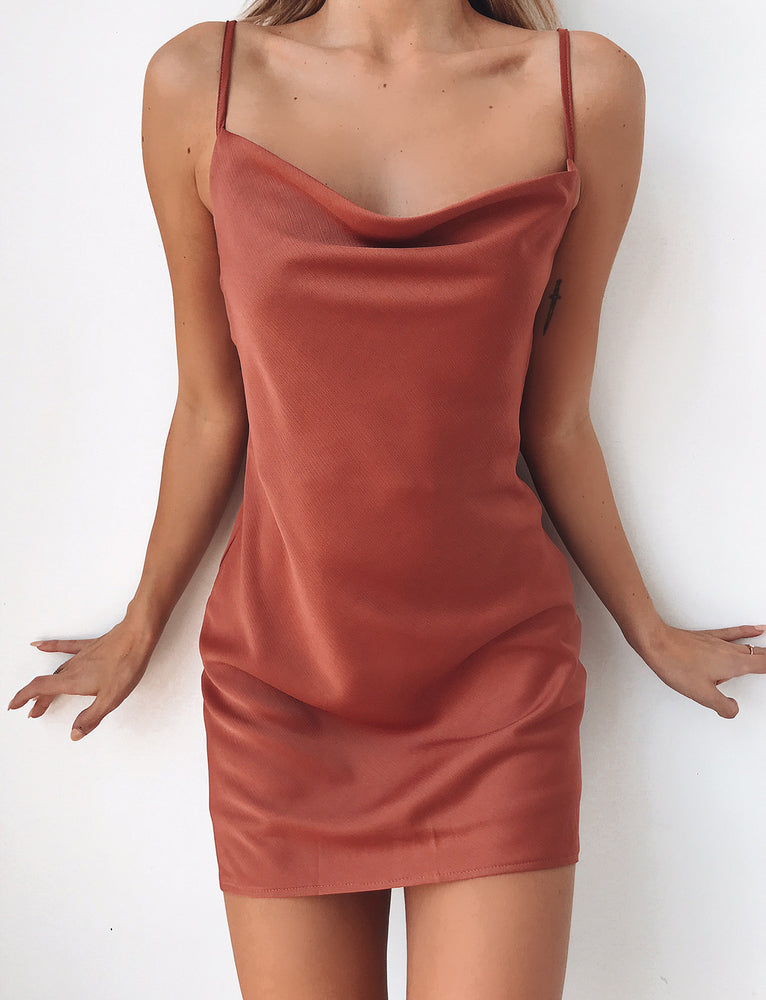 Winona Mini Dress - Tan