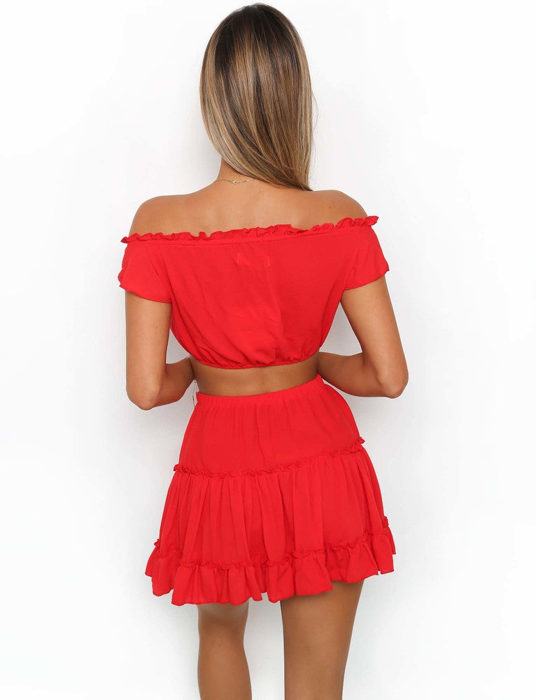 Blissful Two Piece - Red