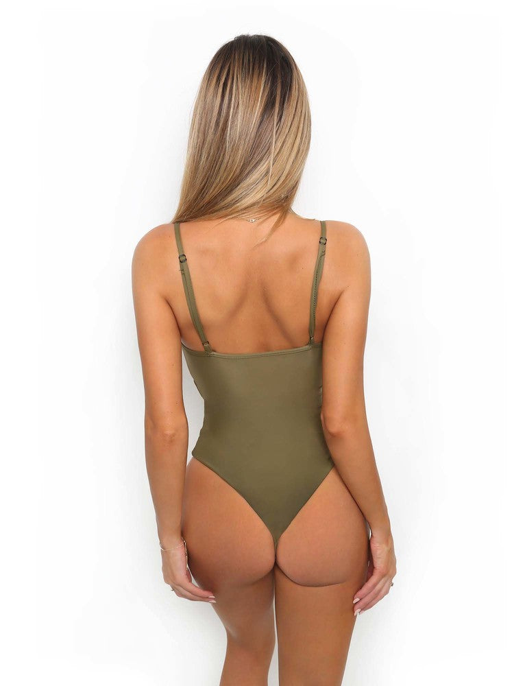 Pretty Thing One Piece - Khaki