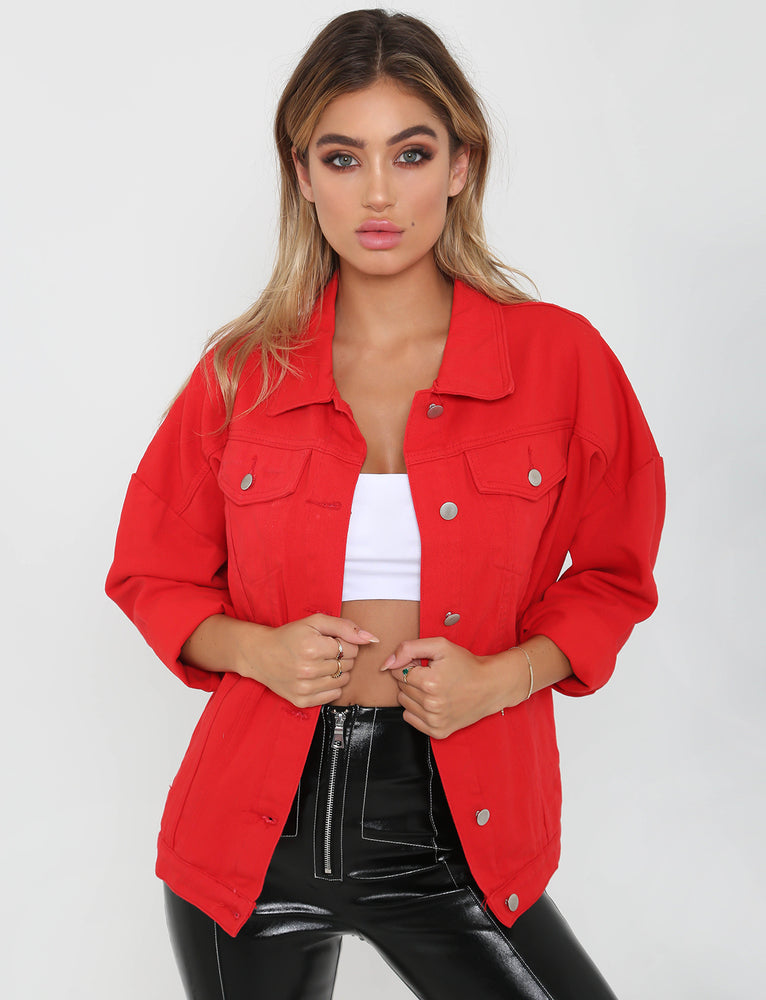 Raines Denim Jacket - Red