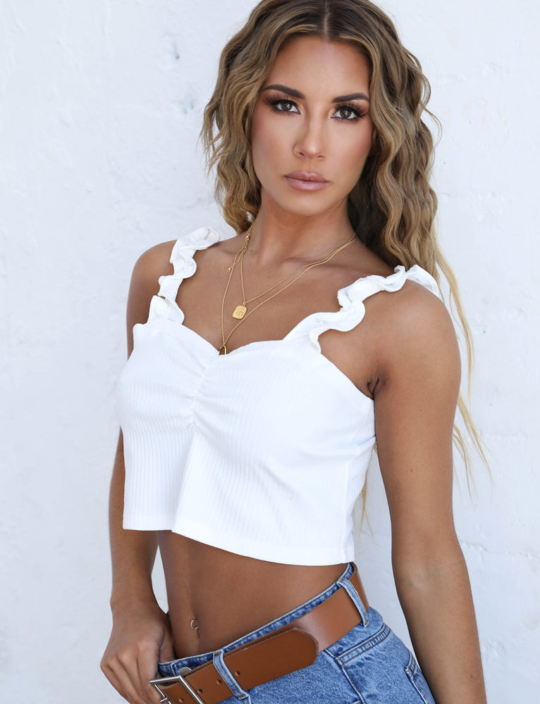 Shelley Crop - White