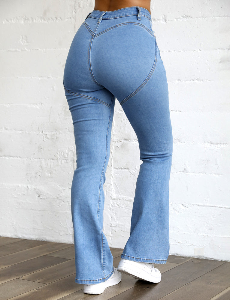 Toby Flare Jean - Blue