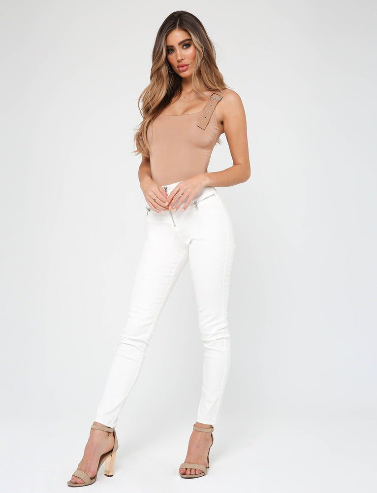 Kailey Bodysuit - Tan