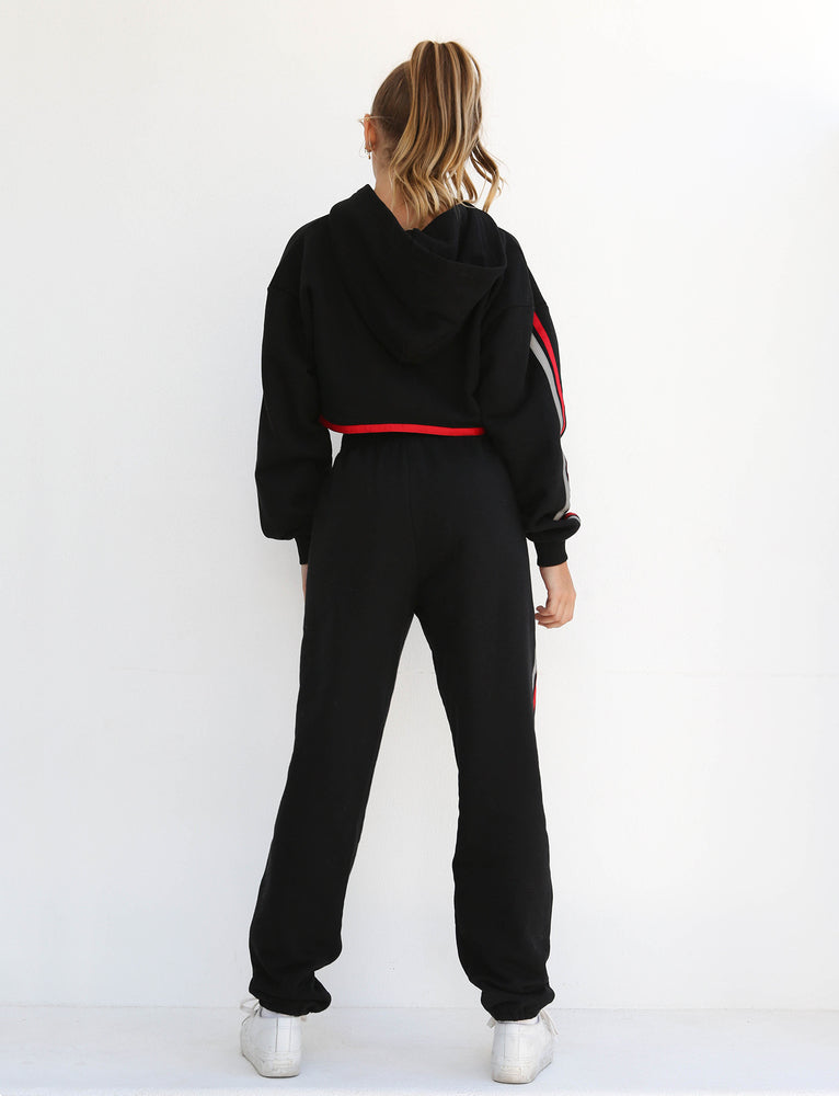 Mercury Pant - Black With Red