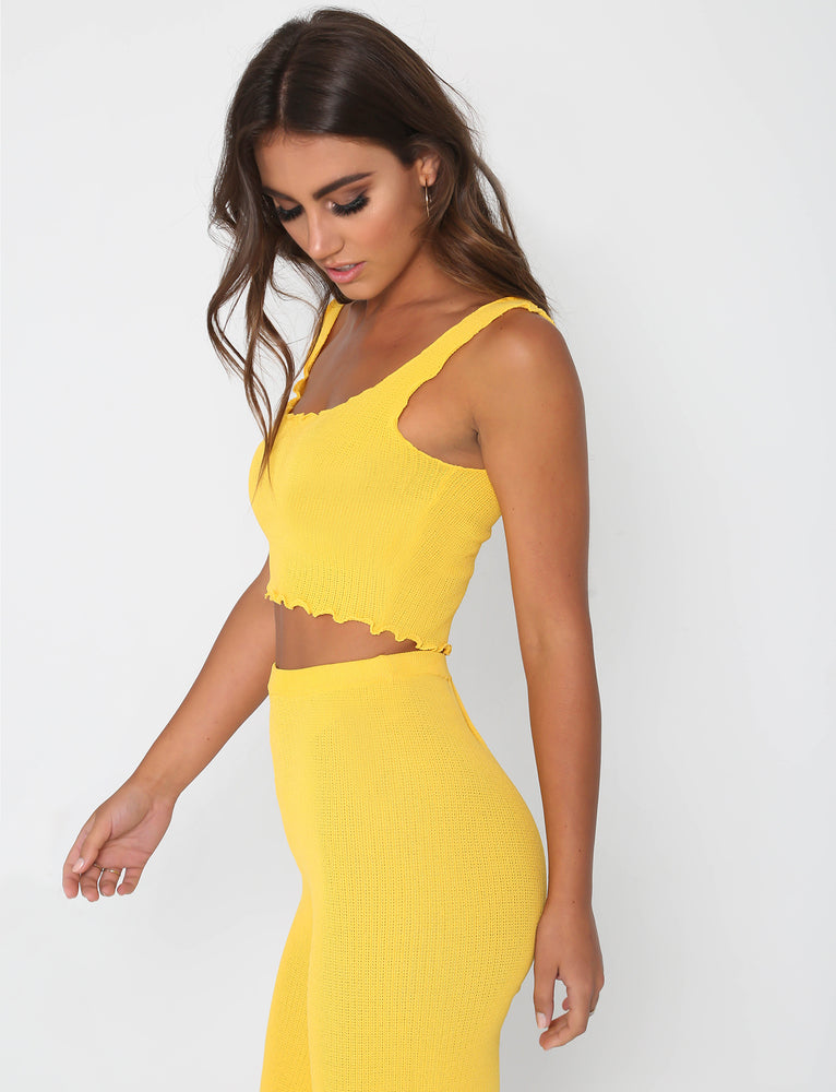 Ruby Top - Yellow