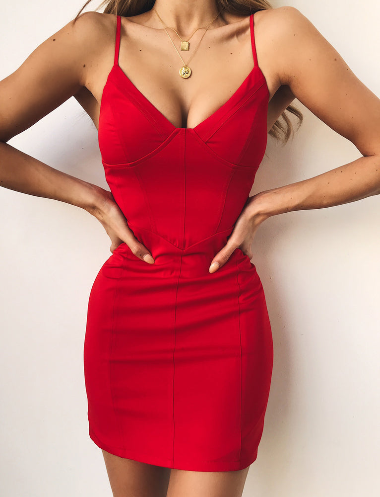 Lydia Dress - Red