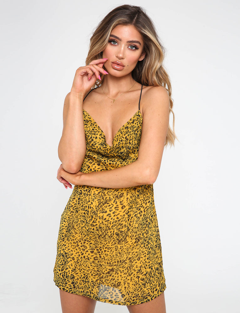 Fareti Dress - Yellow Leopard