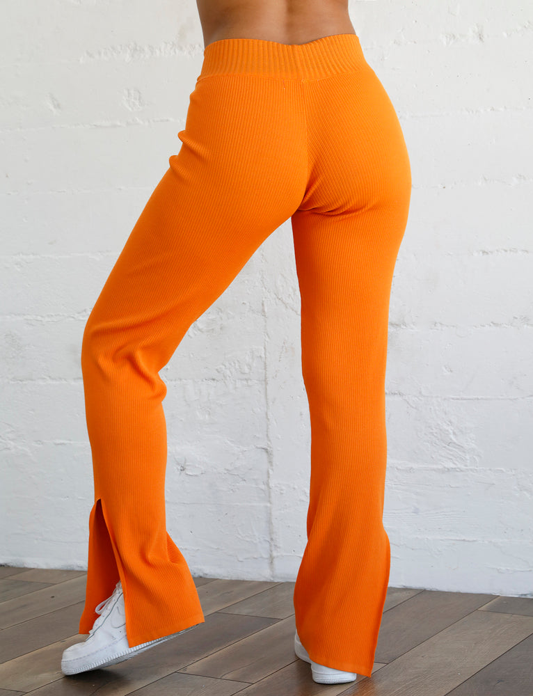 Thea Knit Pant - Orange