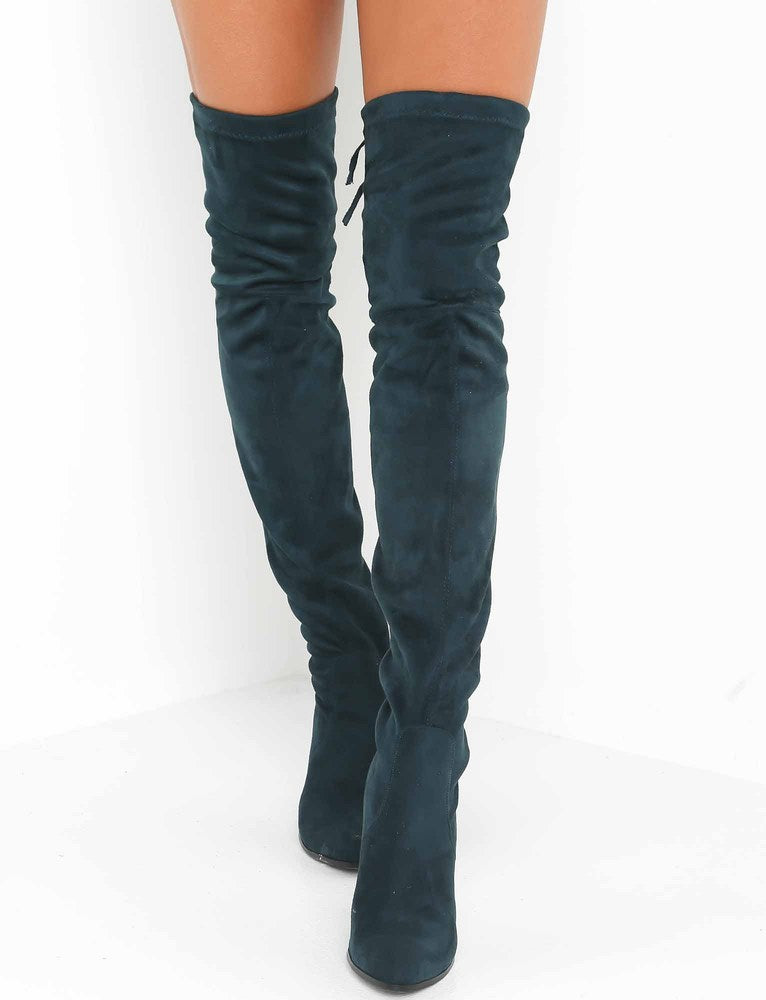 6071ba85778 Buy Our Vanessa Thigh High Boot in Emerald Online Today! - Tiger Mist