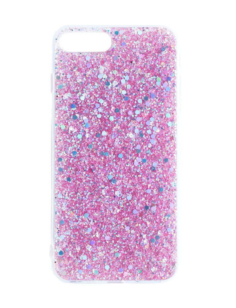 Iphone 8 Plus Pink Glitter Phone Case - Pink