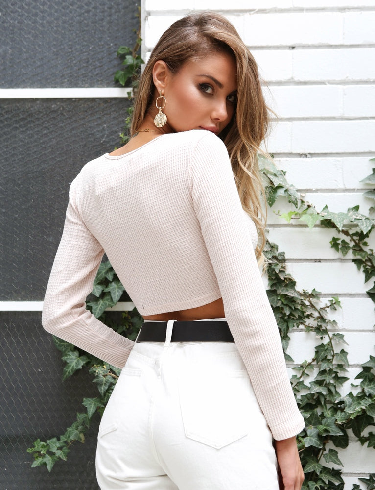 Azul Long Sleeve Crop - Cream