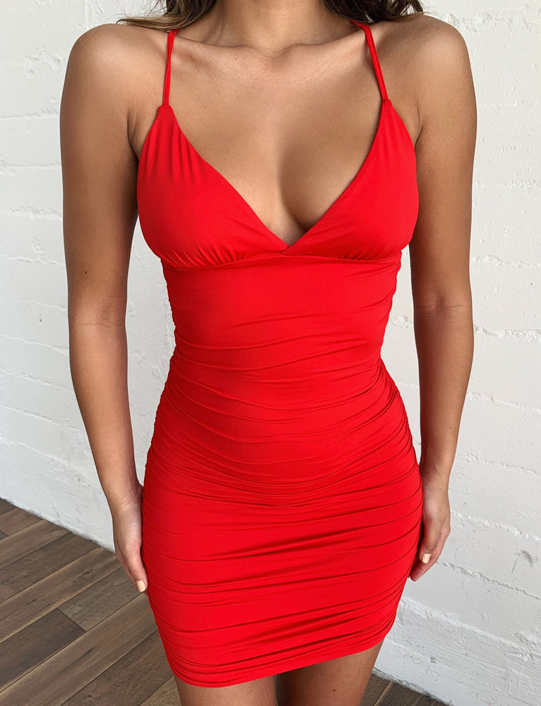 Amber Dress - Red