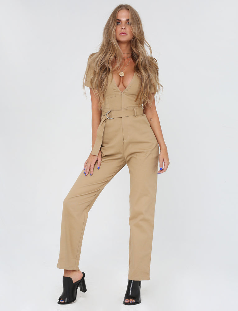 Phillipa Jumpsuit - Tan