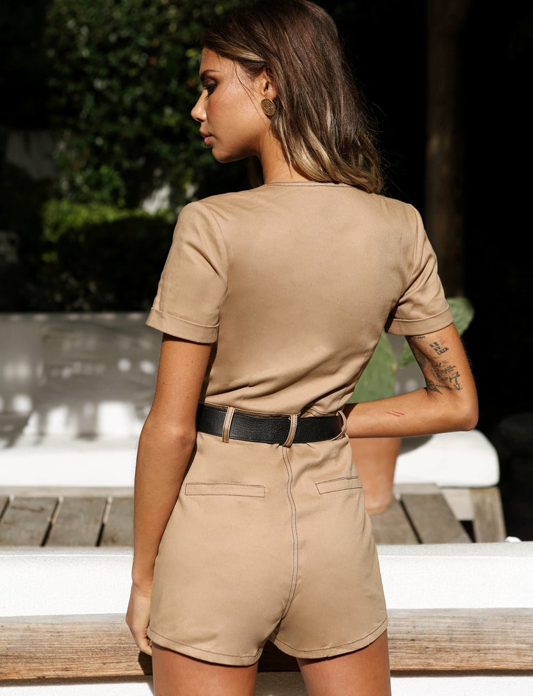 Drew Playsuit - Tan