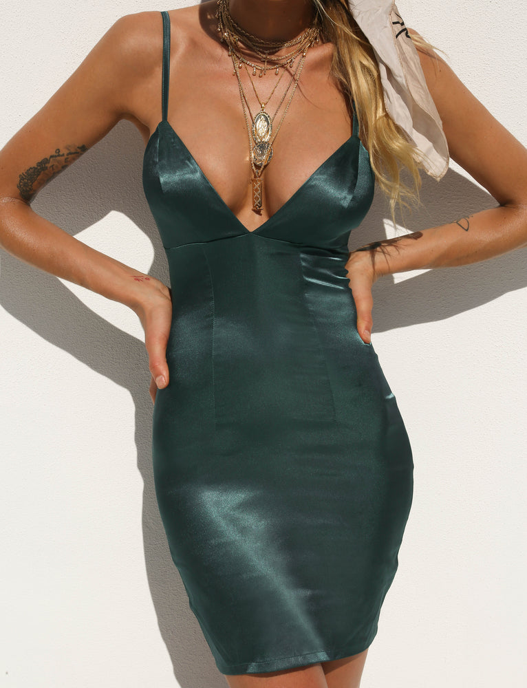 Carmen Dress - Emerald Green