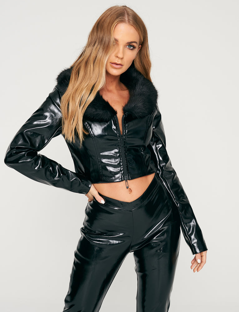 Tex Jacket - Black Pvc