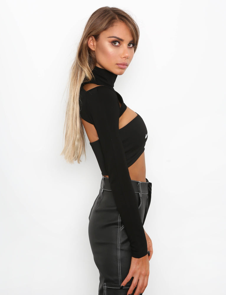 Vesta Crop - Black