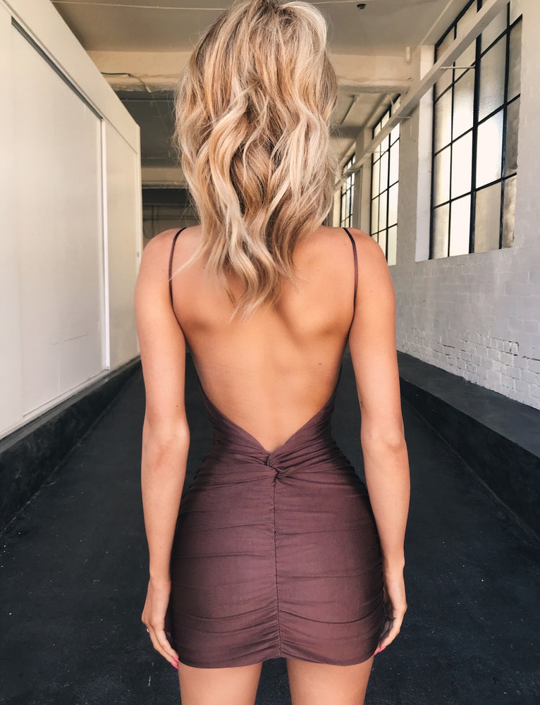 Ally Dress - Chocolate