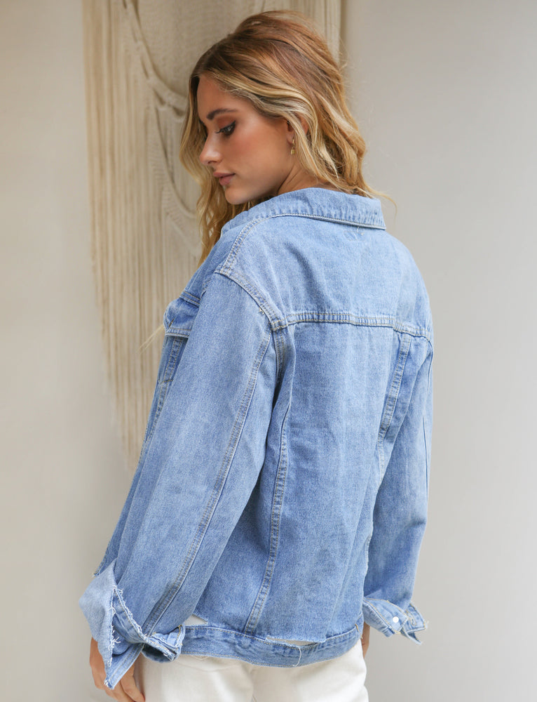Kelsey Denim Jacket - Blue Denim