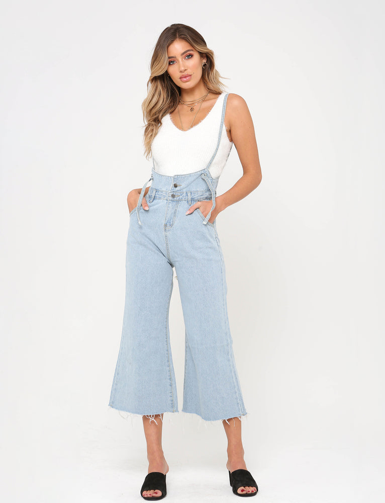 Laura Denim Overalls - Blue