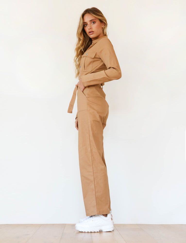 2dc3adb2e0e2 Buy Our Kalia Jumpsuit in Tan Online Today! - Tiger Mist