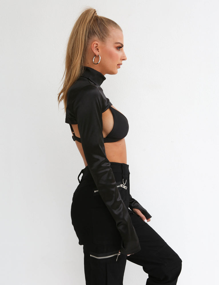 Aries Half Top - Black