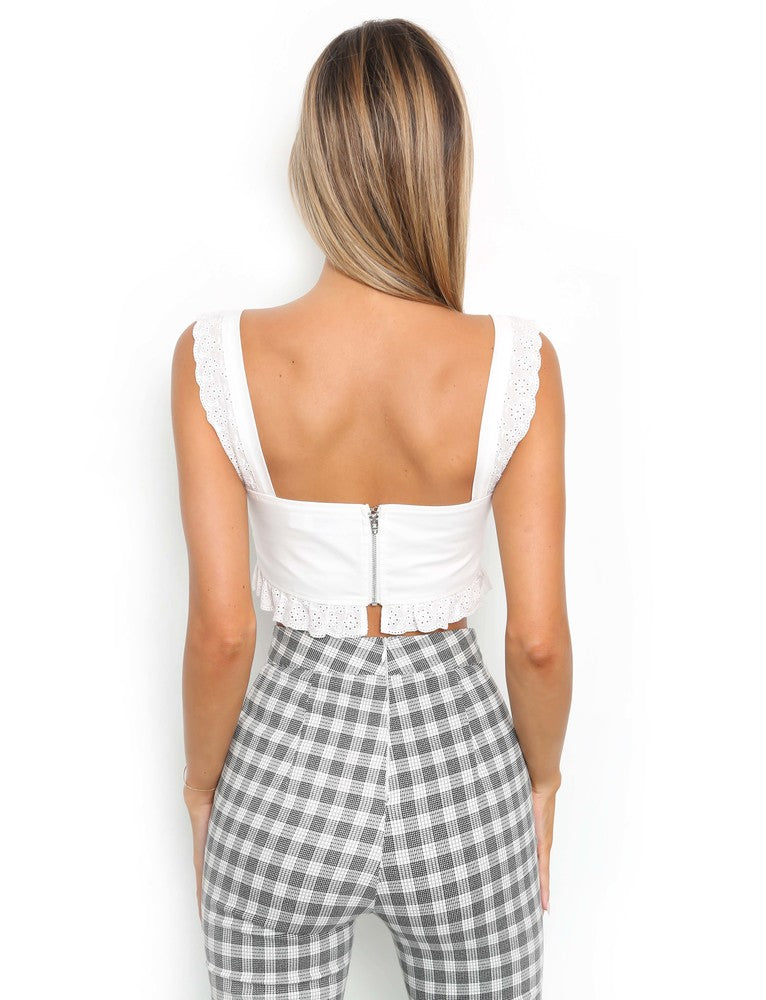 Bailey Crop - White