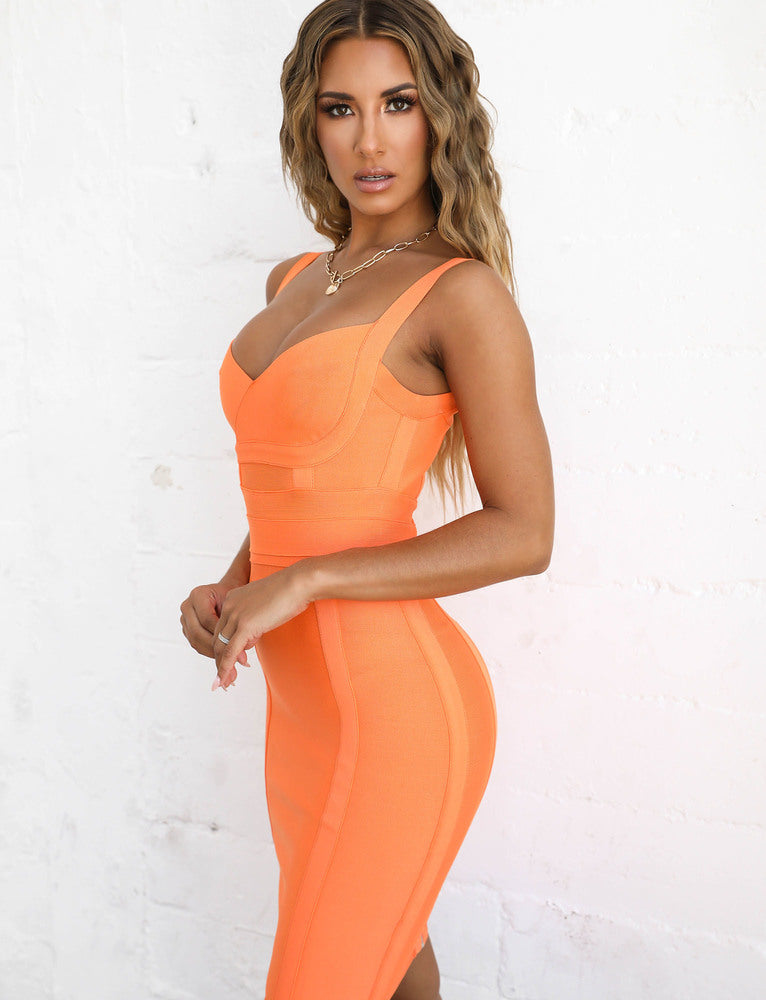 Tatum Bandage Dress - Sorbet