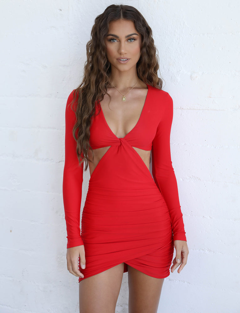 Kya Dress - Red