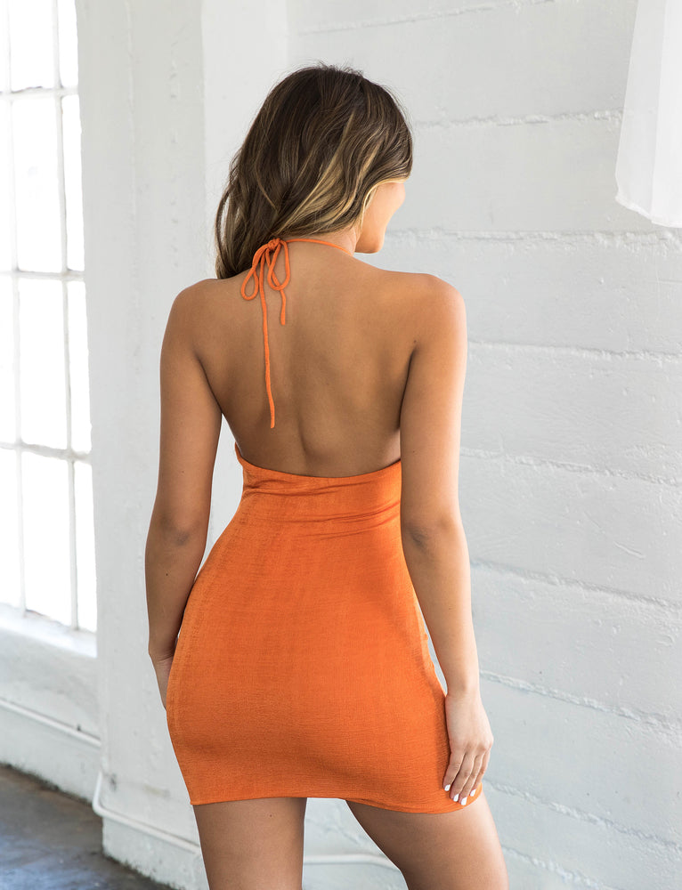 Sia Slinky Dress - Orange