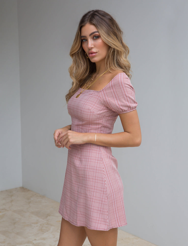 Bell Dress - Pink Check