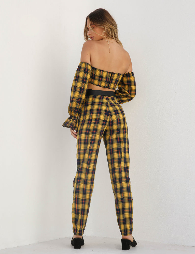 Clueless Pant - Yellow Check