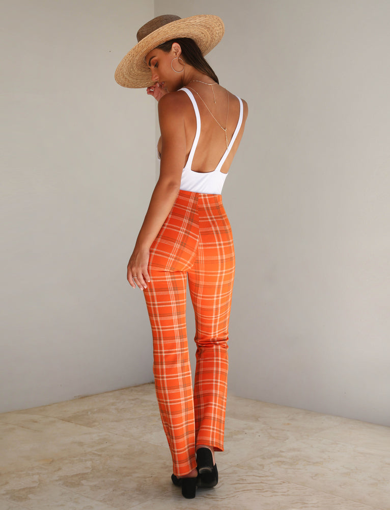 Polaris Pant - Orange Plaid