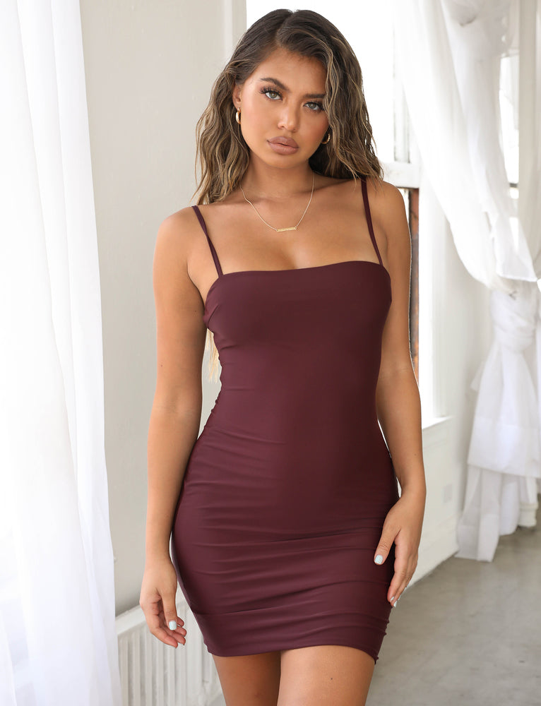 Solange Bodycon Dress - Plum