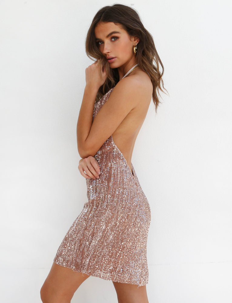 Spark Night Dress - Gold