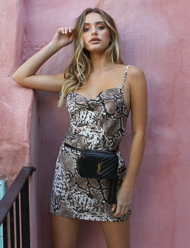 Winona Mini Dress - Snakeskin