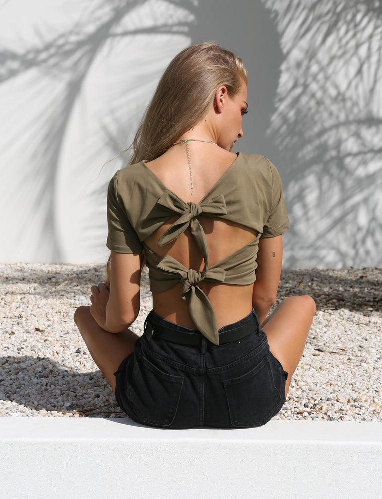 Stevie Crop - Khaki