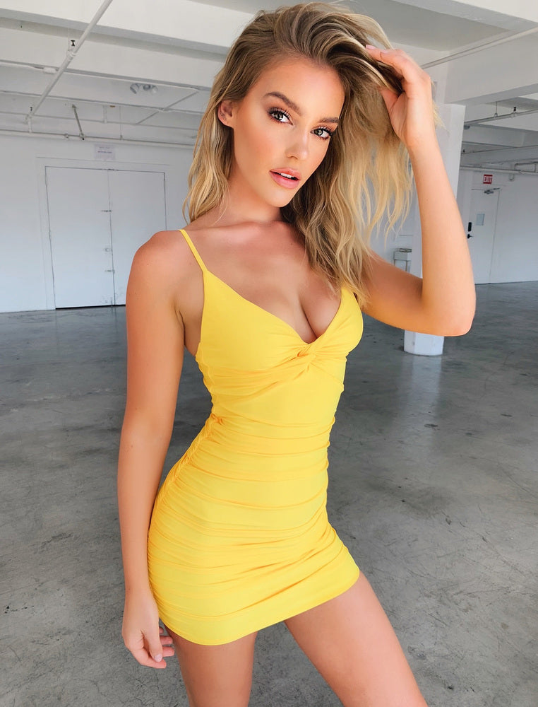 Gabby Dress - Yellow