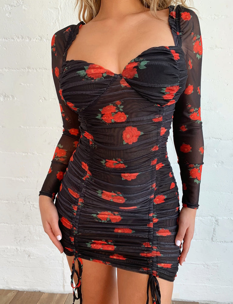 Toronto Long Sleeve Dress - Black