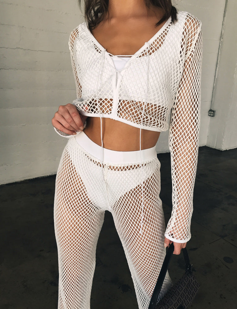 Rumi Crochet Top - White